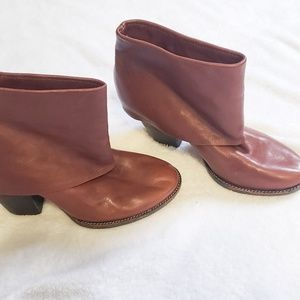 Vince camuto fold over ankle boots